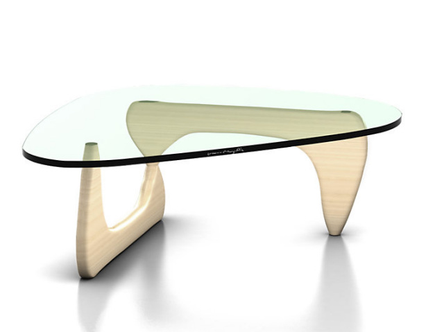 ハーマンミラー社製 ノグチガラステーブル ホワイトアッシュ