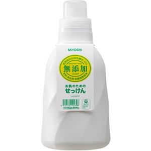 ミヨシ石鹸 無添加 お肌のための洗濯用液体せっけん 1100ml