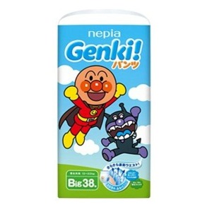 【在庫処分】ネピア GENKI  パンツ ビッグサイズ  38枚 旧品 (0000-0000)