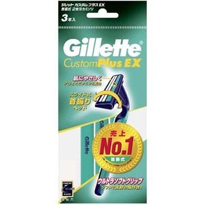ジレットジャパン ジレット カスタムプラスEX 首振式  3本入 (0907-0302)