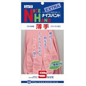 【在庫処分】ナイスハンド エクストラ 薄手 S ピンク  1双 003940
