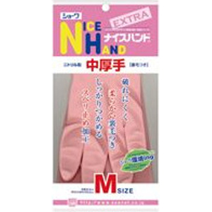 【在庫処分】ナイスハンド エクストラ 中厚手 M ピンク  1双 003995