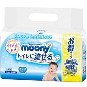 ユニチャーム ムーニー おしりふきトイレに流せるタイプ 詰替 400枚   (930104302)
