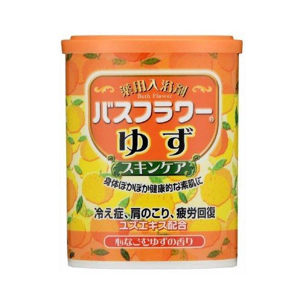 【数量限定】ヘルス  バスフラワー 薬用入浴剤 ゆずの香り680g