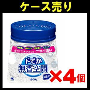 【ケース売り】小林製薬 ドでか 無香空間 本体 1800g 業務用×4個入り (1907-0101)