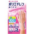 エステー 使いきり手袋 ポリエチレン 極うす手 Mサイズ 100枚入
