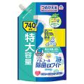 アース製薬 ヘルパータスケ らくハピアルコール除菌EXワイドつめかえ740ml