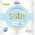 【在庫処分】クレシア クリネックス システィ4ロール(ダブル) アリスブルー          (930503203)