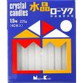 日本香堂 新水晶ローソク 1.5号 40本入り 225g (1210-0206)
