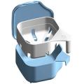 紀陽除虫菊 デントクリアカップ入れ歯洗浄剤用 ブルー1個 (1525-0001)