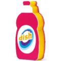 マーナ 洗剤ボトル キッチンスポンジ ピンク 1個 (1019-0407)