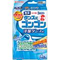 大日本除虫菊 タンスにゴンゴン 洋服ダンス用 無臭タイプ  4個入 (1614-0204)