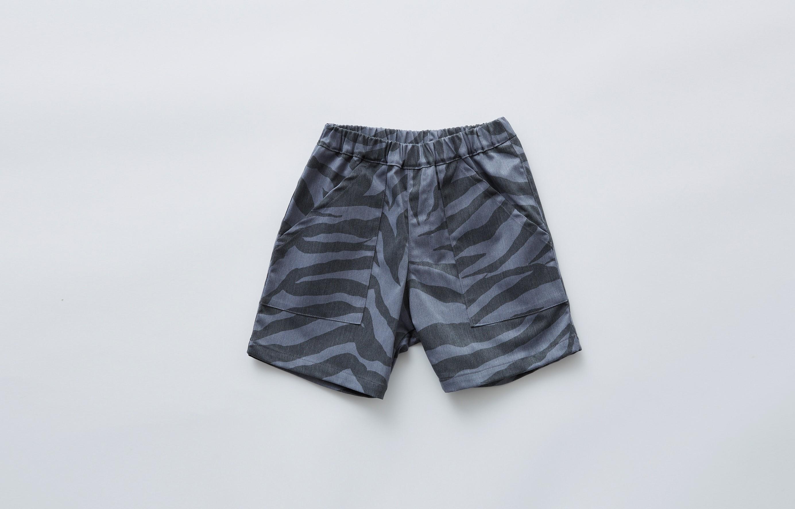 【eLfinFolk】zebra shorts gray