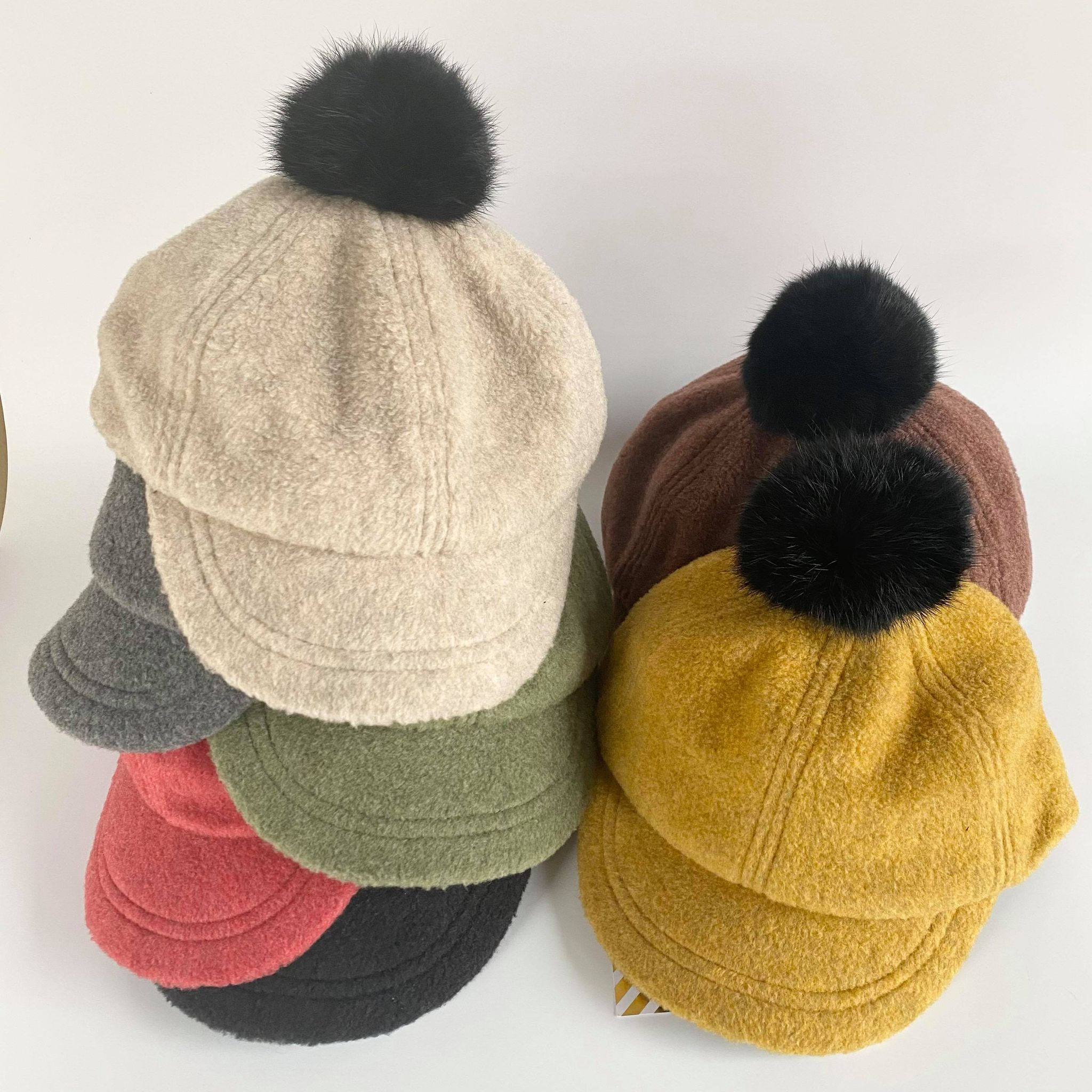【ソウルフード/chocolatesoup】FLEECE POMPOM CAP