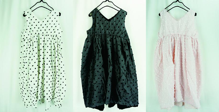 【frankygrow】20SOP-148 BONBON CUT JQ V-NECK DRESS