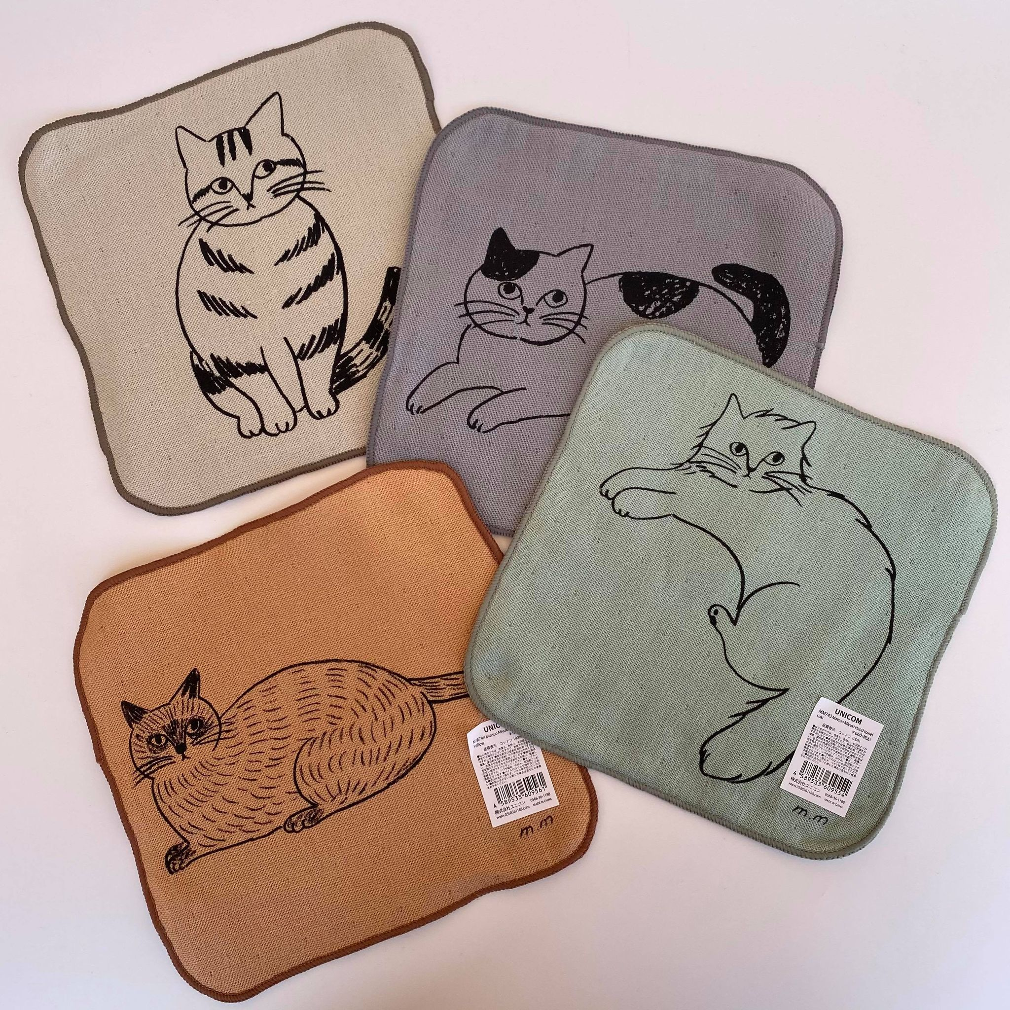 【松尾ミユキ】Hand towel Cat