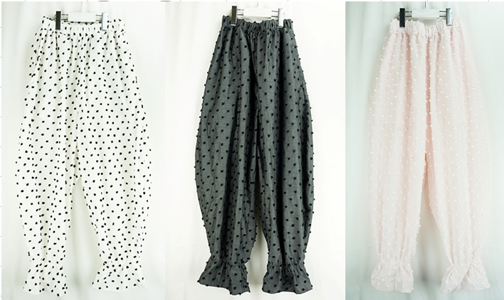 【frankygrow】20SBT-257 BONBON CUT JQ FRILL PANTS