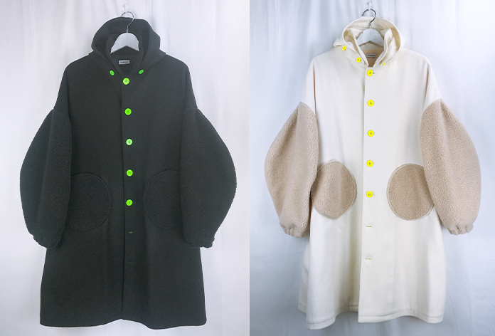 【frankygrow】20FWOT-077 REMOBABLE FOODED MIX MELTON COAT/キッズから大人まで