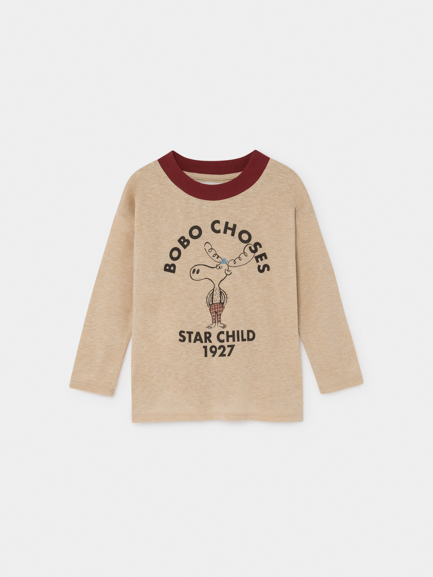 【BOBOCHOSES】219003 THE MOOSE LONG SLEEVE T-SHIRT