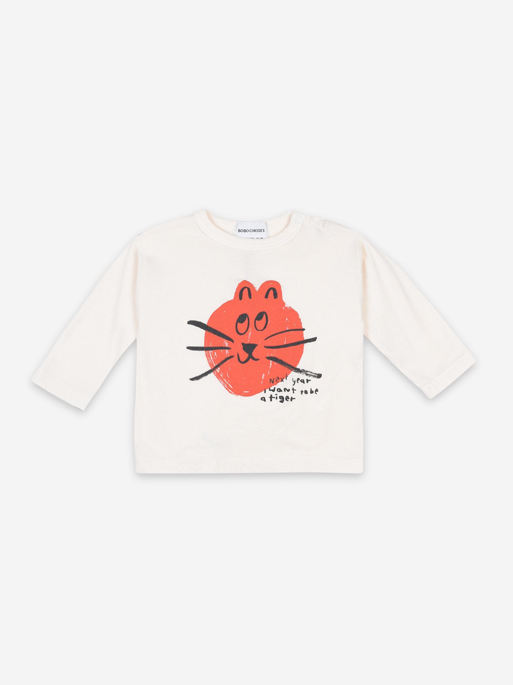 【BOBOCHOSES】FUN 22080001 CAT LONG SLEEVE T-SHIRT BABY