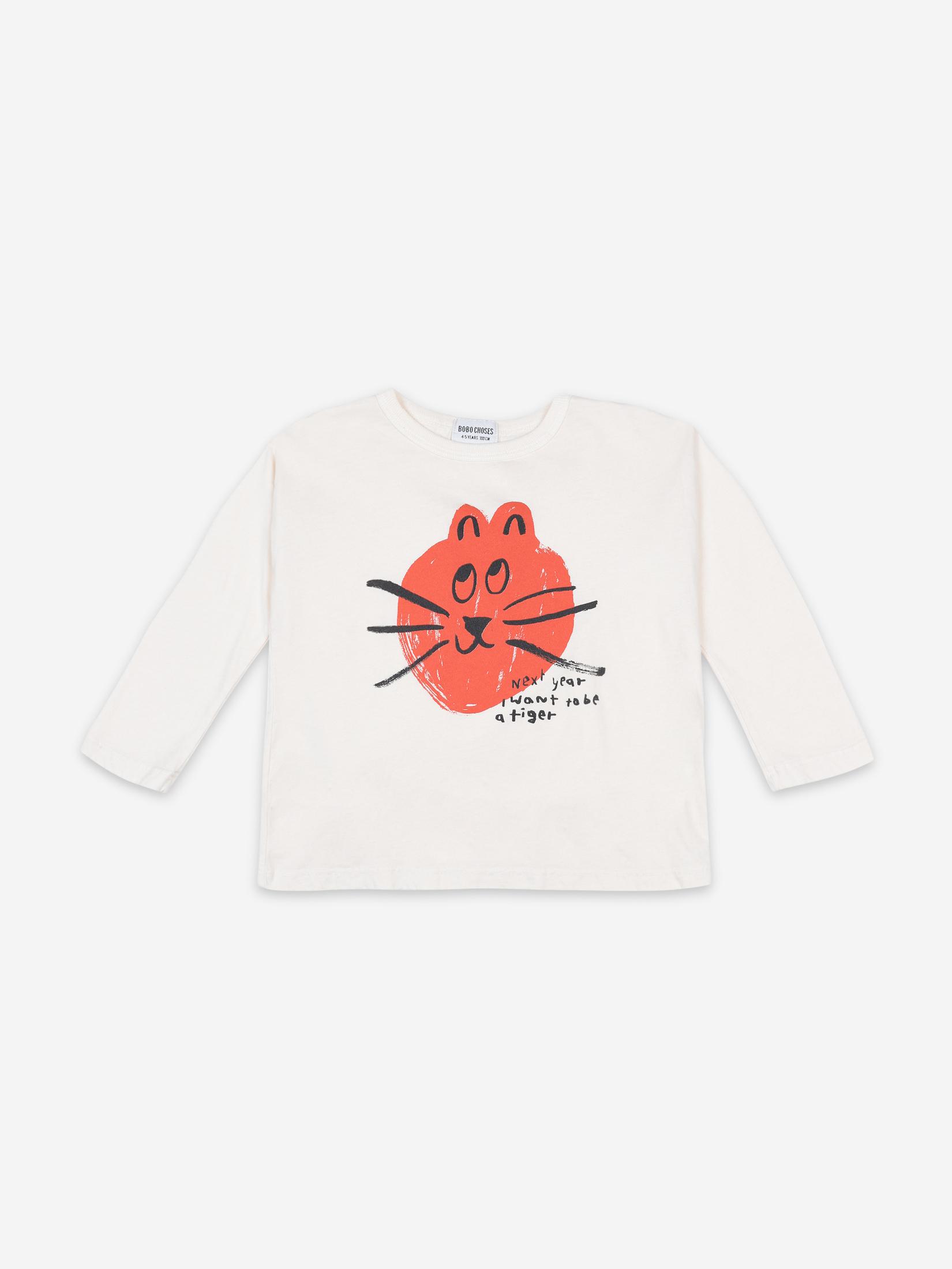 【BOBOCHOSES】FUN 22081010 CAT LONG SLEEVE T-SHIRT KIDS