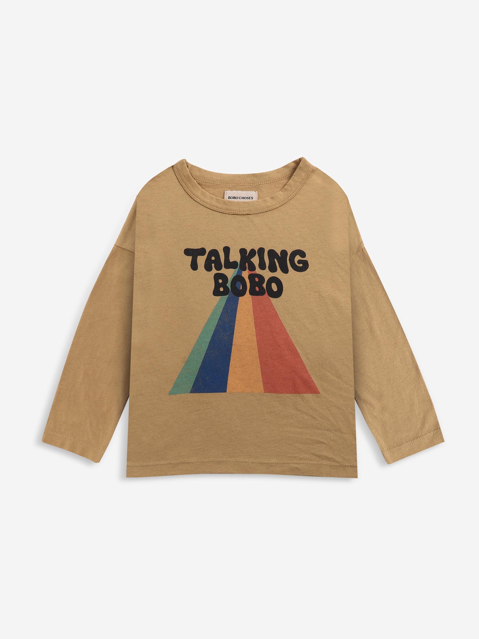 【BOBOCHOSES】Drop1/221AC011 Talking Bobo Rainbow long sleeve T-shirt KID