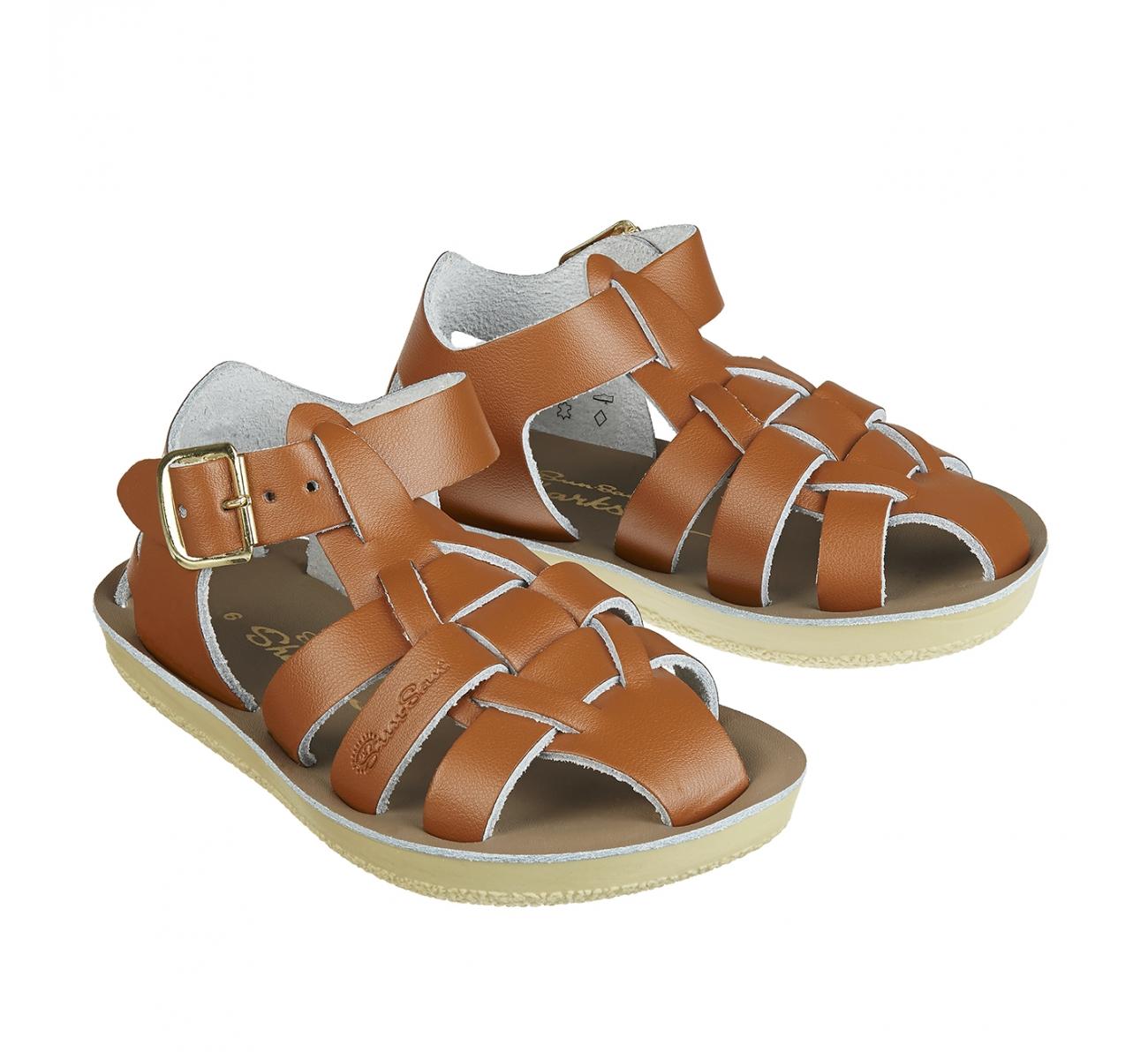 【Salt Water Sandals(ソルトウォーターサンダル)】Sun San Sharks(ベルクロ)/tan茶色/13.3cm~19.2cm