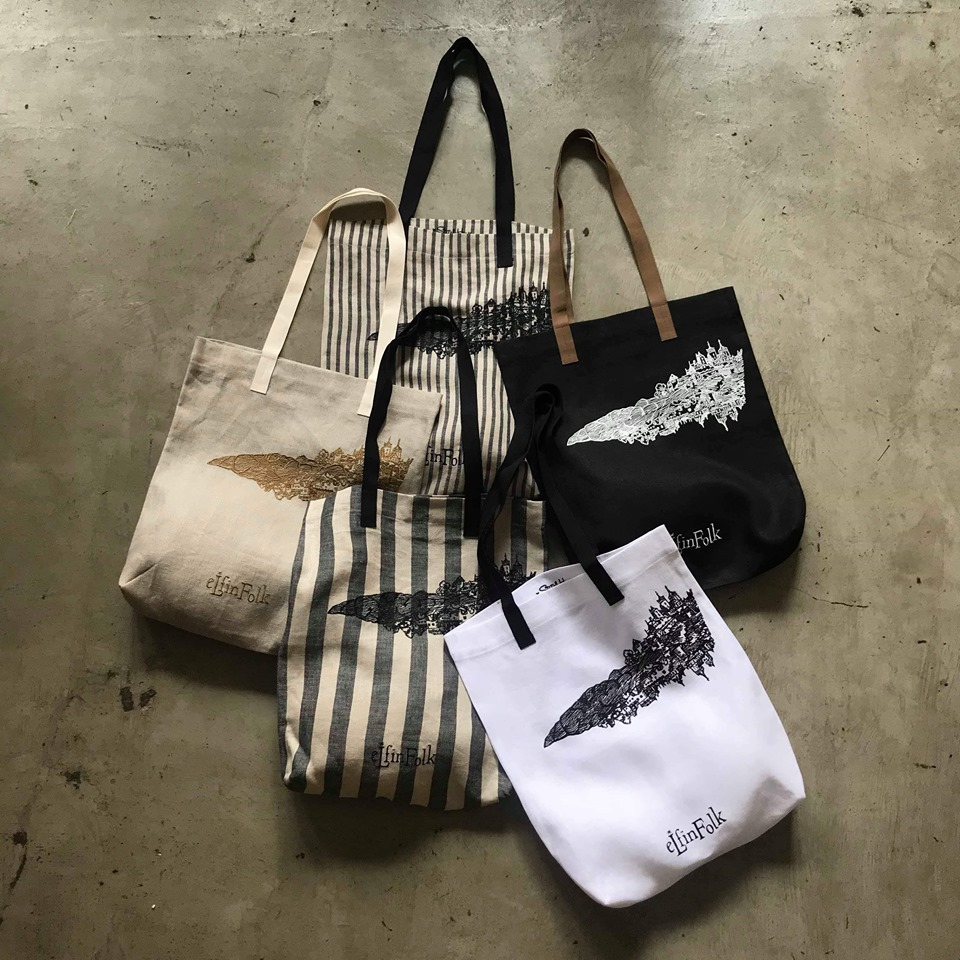 【eLfinFolk】stitchhouse限定/リネンbag