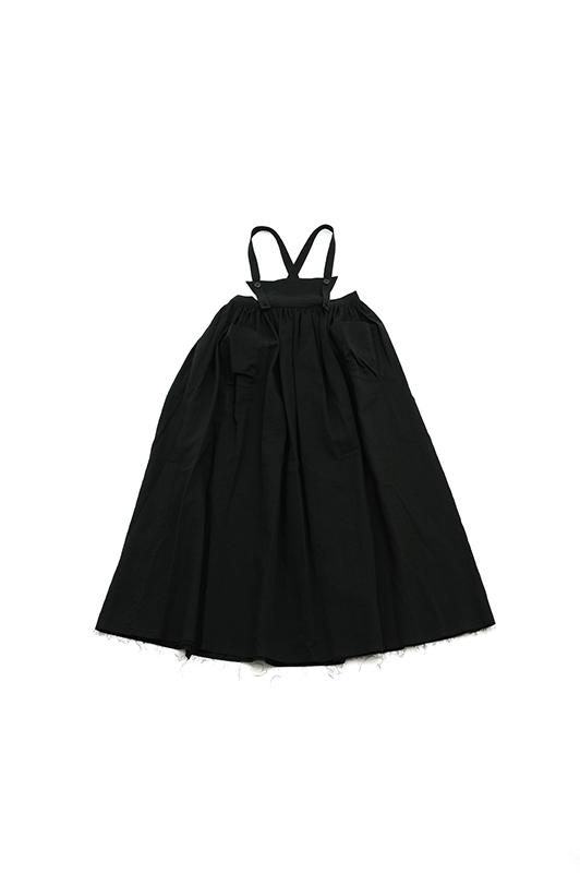 【UNIONINI】OP-068/gauze apron long dressキッズとおとな