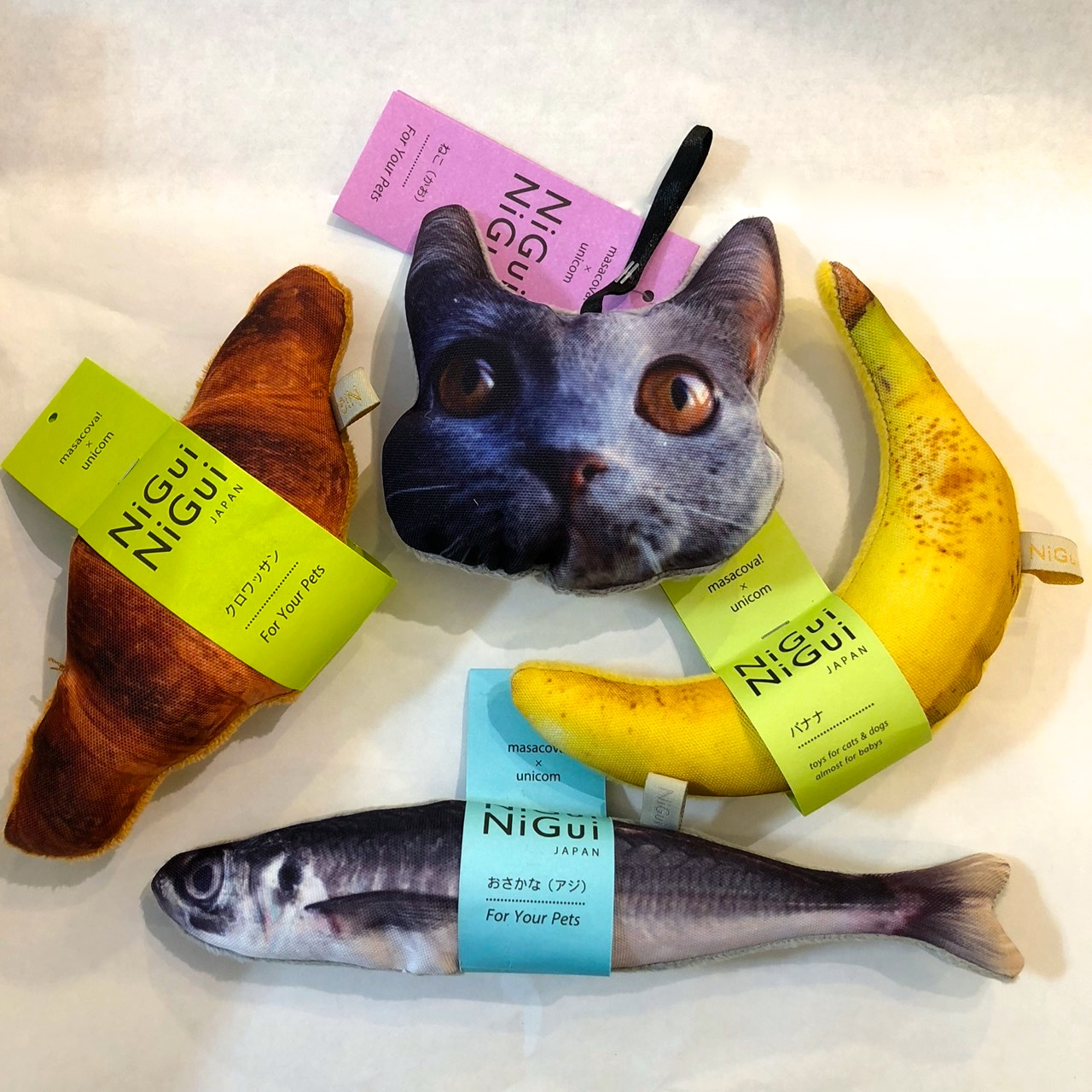【masacova!】NiGuiNiGui CROWASSANT/BANANA/FISH/CAT