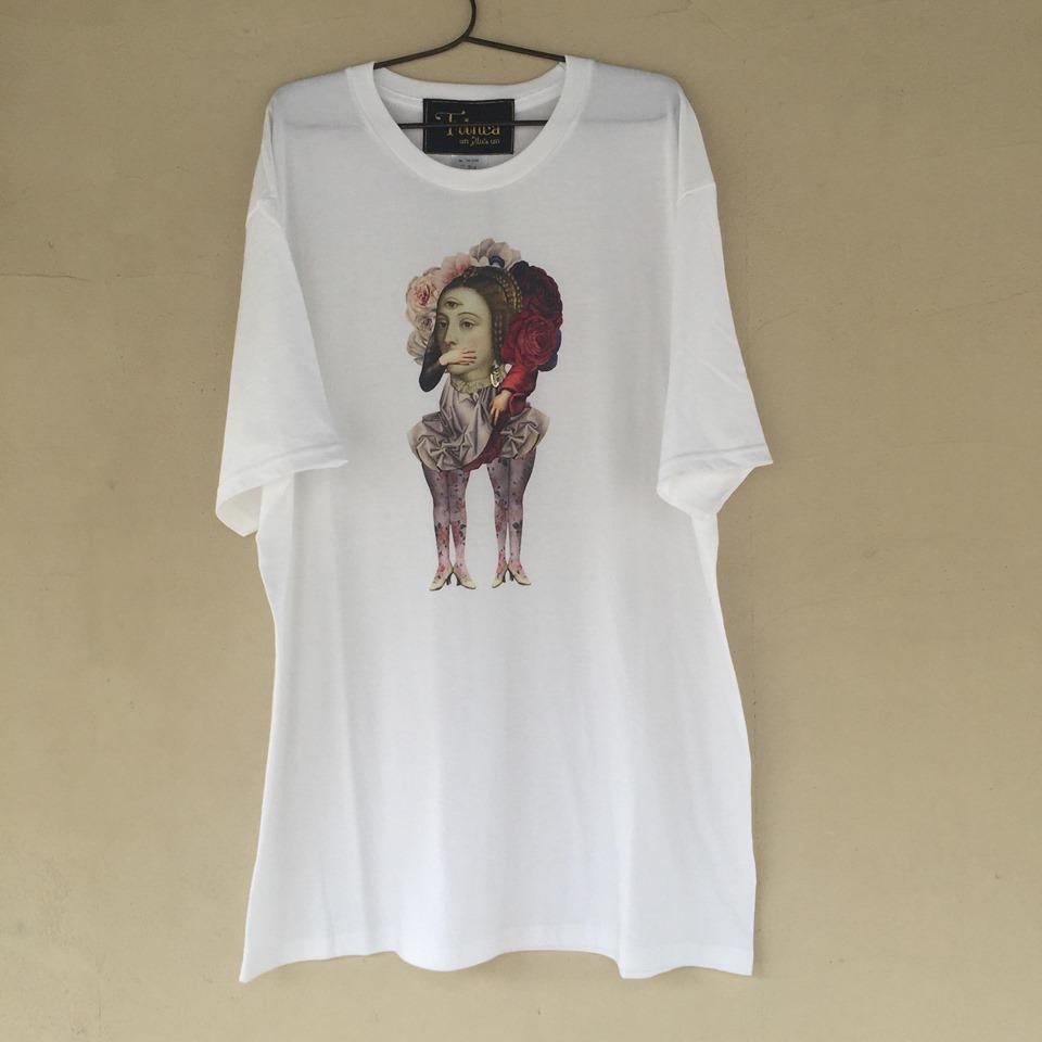 【-niitu-Trinca】TrincaビッグTシャツ/三つ目の女/白/大人