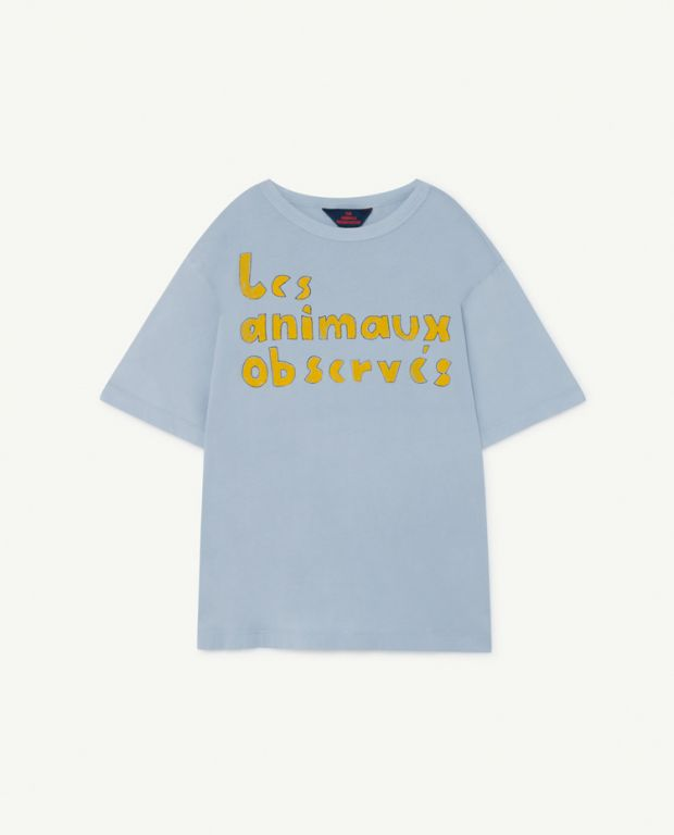 【THE ANIMALS OBSERVATORY】Pale Blue Oversize Rooster T-Shirt