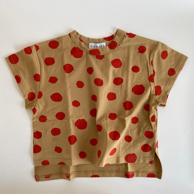 【arkakama】AKT00351-CS/COTTON SPDX WIDE Tee/THIS IS a DOT