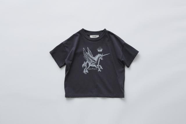 【eLfinFolk】PEGASUS Tee charcoal レディース