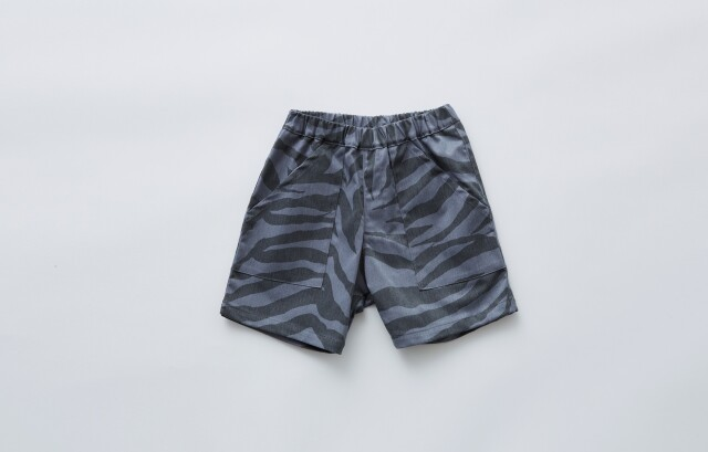 【eLfinFolk】zebra shorts gray