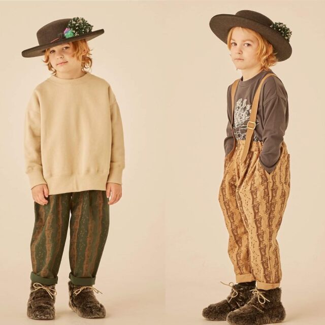 【eLfinFolk】elf-202F06 castle printed pants