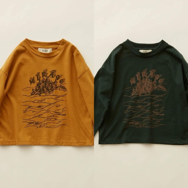 【eLfinFolk】elf-202J01 MIRAgE town  long sleeve-T