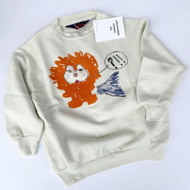 【THE ANIMALS OBSERVATORY】001297 BEAR KIDS+ SWEATSHIRT