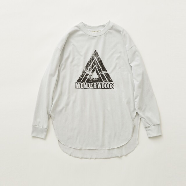 【eLfinFolk】WONDER WOODS  Long Tee  ash white/大人