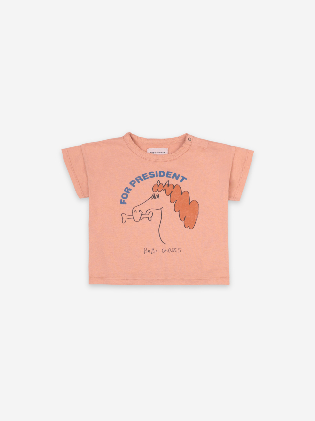 【BOBOCHOSES】121AB001 Fetching Horse Short Sleeve T-shirt