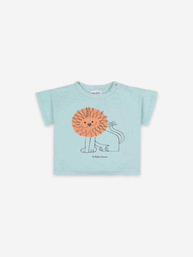 【BOBOCHOSES】121AB003 Pet a Lion Short Sleeve T-shirt