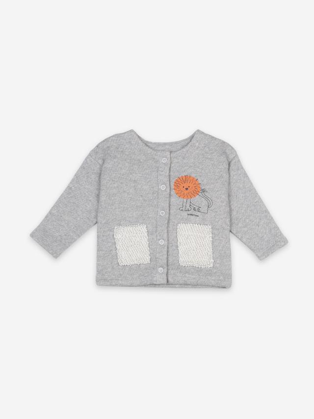 【BOBOCHOSES】121AB034  Pet A Lion Buttoned Sweatshirt