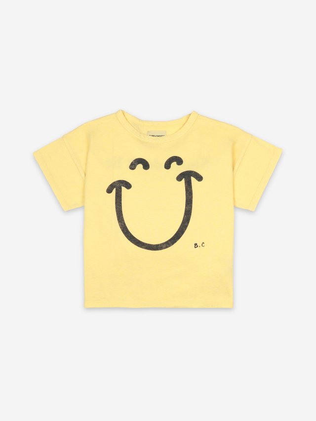 【BOBOCHOSES】121AC001 Big Smile Short Sleeve T-Shirt