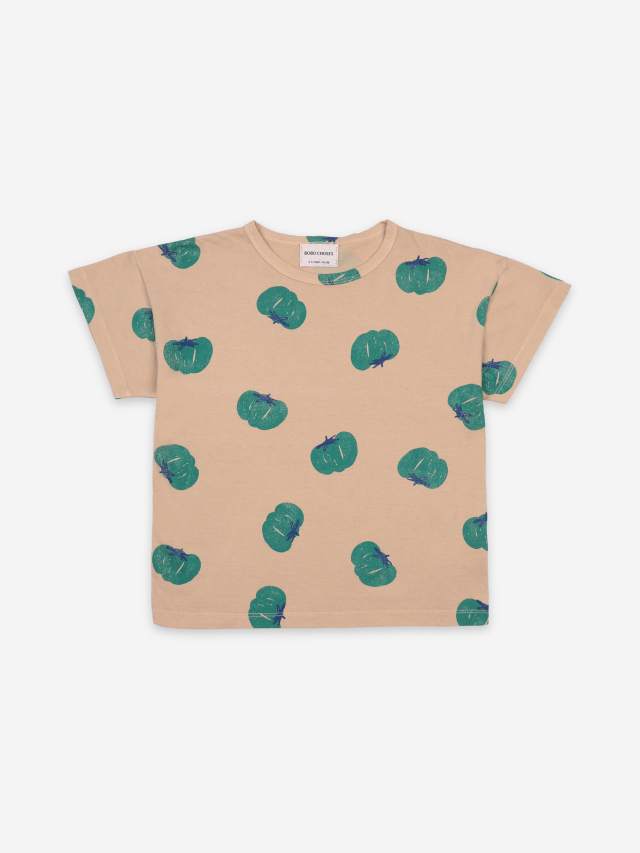 【BOBOCHOSES】121AC011 Tomatoes All Over Short Sleeve T-Shirt