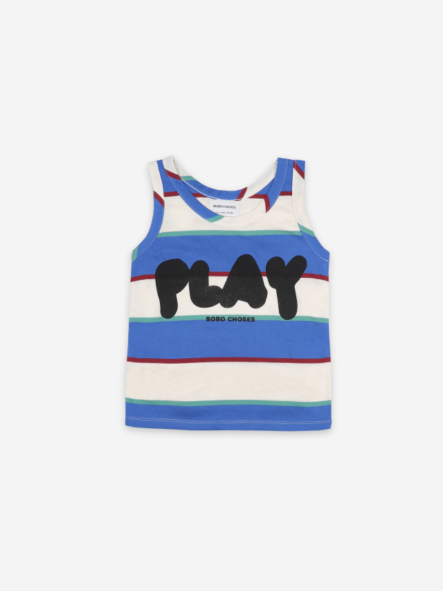 【BOBOCHOSES】121AC015 Play Stripes Tank Top