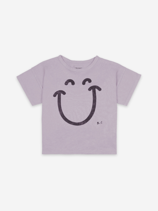 【BOBOCHOSES】121AC156 Big Smile Lilas Short Sleeve T-Shirt