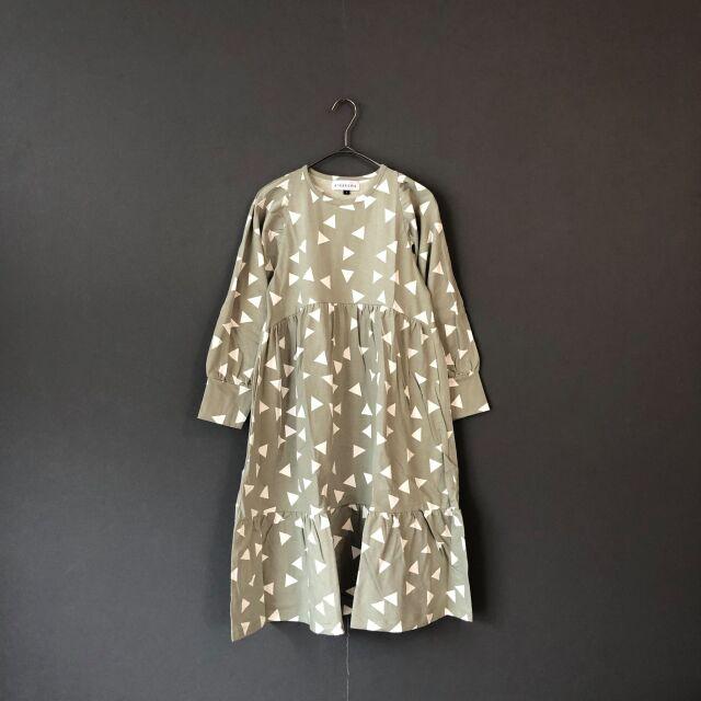【arkakama】AKD00060 -CS Vacation L/S DRESS ▲Triangle