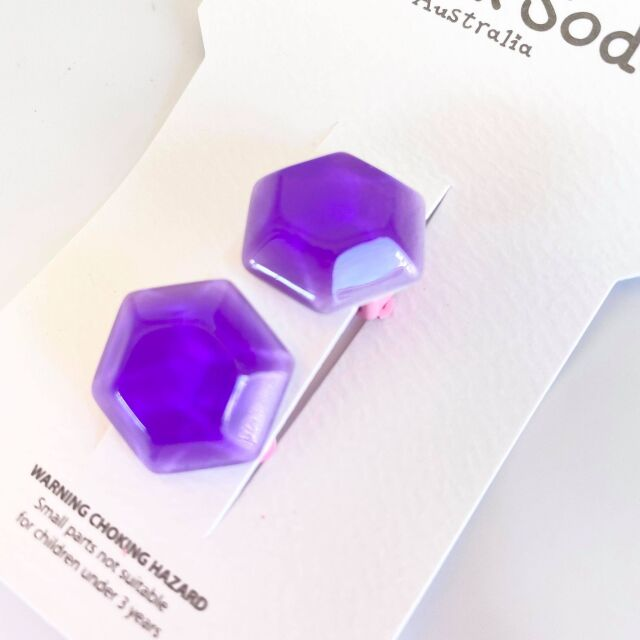 【Milk×Soda】JELLY STONE CLIP ON EARRINGS