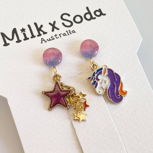 【Milk×Soda】STAR UNICORN EARRINGS