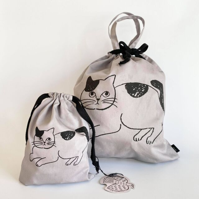 【松尾ミユキ】Reversible drawstring bag L